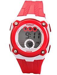 cheap -Women's Digital Watch Quartz Digital Quilted PU Leather White / Blue / Red 50 m Digital Ladies - Red Green Blue