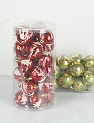cheap -Christmas Decorations Christmas Tree Ornaments Ball Cute Lovely Plastic Toy Gift 24 pcs