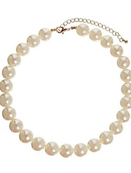 cheap -Women's Statement Necklace Pearl Necklace European Pearl Screen Color Necklace Jewelry For