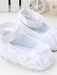 cheap -Girls' Crib Shoes / Children's Day Flats Infants(0-9m) Bowknot White / Red / Pink Spring & Summer