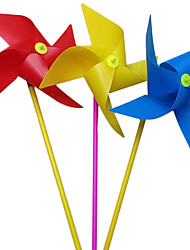 cheap -100pcs 20cm colorful four corners windmill children toys