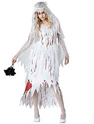 cheap -Ghost Cosplay Costume Women's Halloween Carnival Festival / Holiday Polyester Cotton Women's Carnival Costumes