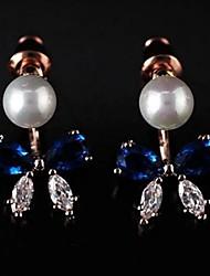 Недорогие -мода бантом жемчужные изысканные серьги