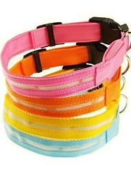 cheap -Cat Dog Collar LED Lights Nylon Yellow Red