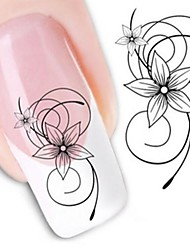 cheap -water transfer printing nail stickers xf1443