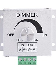 cheap -Aluminum Alloy 8A 1-Channel Rotary Dimmer for LED Strip Lamp  (DC 12V-24V)
