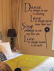 cheap -Wall Stickers Wall Decals, Sunflower PVC Wall Stickers 1pc