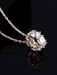 Недорогие -Серебро Кристалл Свисающие Серебристый Розовое золото Ожерелье Бижутерия Назначение Повседневные