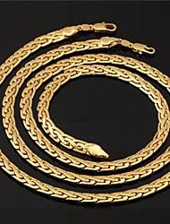 S-164 18K White Gold Filled Figaro Necklace//Bracelet Set