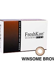 cheap -FreshKon Allurig Eyes Winsome Brown (2 Lens /box)(Zero Degree)