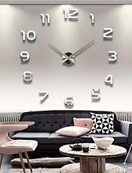 "cheap -39""W DIY 3D Mirror Numbers Acrylic Sticker Wall Clock 120*120cm"