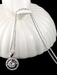 Недорогие -Серебро Цирконий Серебристый Розовое золото Серебряный Ожерелье Бижутерия Назначение Повседневные