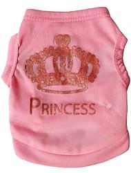 cheap -Cat Dog Shirt / T-Shirt Dog Clothes Pink Costume Terylene Tiaras & Crowns XS S M L