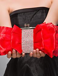 cheap -Women's Zipper Satin Evening Bag Fuchsia / Red / Almond