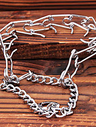 cheap -Metal Chain Teach Dogs Collars for Pets Fierce Dogs