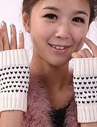 abordables -personnalité de la mode brèves chaude petit point des gants moitié des doigts de la femme
