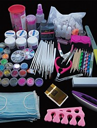 cheap -167PCS Pro Nail Art Acrylic Powder UV Gel Tip Brush Clipper Tool Set