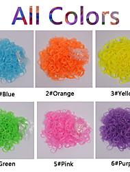 Недорогие -600pcs цвета радуги ткацкий станок полупрозрачные разноцветные моды ткацкий станок группа (клип 1package сек, разные цвета))