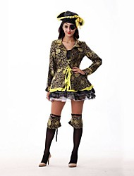 cheap -Pirate Cosplay Costume Women's Halloween Festival / Holiday Polyester Women's Carnival Costumes / Hat