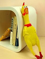 Недорогие -обманывать кричать курица формы резиновые игрушки