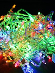 cheap -Outdoor String Lights 10M Colours LED Garland String Fairy Light 8 Mode Christmas Light Holiday Wedding Party US Plug 110V