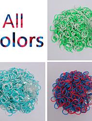 Недорогие -600pcs цвета радуги ткацкий станок двойная полоса способа цвета ткацкий станок (клип 1package S, разных цветов)