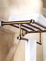 "cheap -Towel Bar Antique Brass Wall Mounted 600x 245 x 150mm (23.62 x19.64x 5.90"") Brass / Ceramic / Crystal Antique"