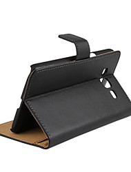 cheap -Case For Samsung Galaxy Grand 2 Card Holder / with Stand / Flip Full Body Cases Solid Colored Genuine Leather