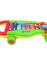 cheap -High Quality ABS Cartoon Knock Piano Intelligent Baby Toys Noisemaker Toys Baby Educational Toys Draggable Toys