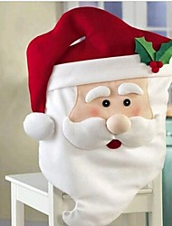 cheap -Christmas Santa Claus Chair Cover for Dining Room Holiday Decoration 87*51cm 1set