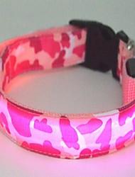 cheap -Cat Dog Collar LED Lights Nylon Green Blue Pink