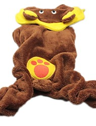cheap -Dog Hoodie Dog Clothes Animal Cartoon Brown Costume For Winter Cosplay