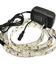 cheap -JIAWEN Fiexble LED light Strip 2.5M 3528MD 8mm 60LEDS/M RGB  Home Decoration with 2A Power adapter and Remote Control AC 100-240V