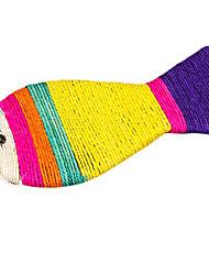 Недорогие -красочные рыбы форма сизаля конопли кошки игрушка
