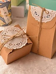 cheap -Classic Rectangle Brown Paper Box(Include Iemp Cord And Lace)(1pc)