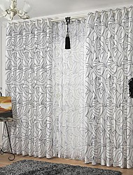 cheap -Two Panels Curtain Modern European Neoclassical Country, Print & Jacquard Bedroom