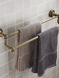 cheap -Double Towel Bar,Antique Brass Finish Brass Material,Bathroom Accessory