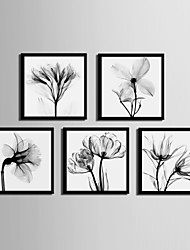 cheap -Framed Canvas Framed Set - Floral / Botanical PVC Illustration Wall Art
