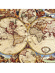 cheap -Antique World Map Puzzle Oil Painting Toy 1000 Pieces