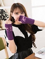 cheap -Women's Autumn And Winter Deer Printing Knitting Warm Gloves
