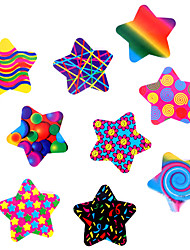 cheap -100pcs colorful stars adhesive stickers