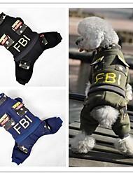 Недорогие -Собака Плащи Брюки Одежда для собак Кофейный Зеленый Синий Смешанные материалы Костюм Назначение Зима