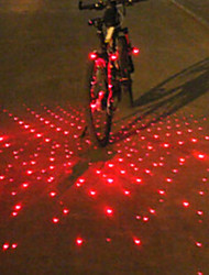 cheap -Laser LED Bike Light Bar End Light Rear Bike Tail Light Safety Light Mountain Bike MTB Bicycle Cycling Alarm LED Light Multi-tool Warning Battery Cycling / Bike / IPX-4