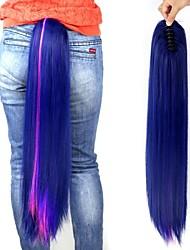 Недорогие -24 дюймы Наращивание волос Прямой Классика Повседневные Высокое качество Конские хвостики