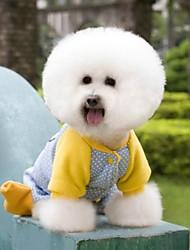 cheap -Cat Dog Coat Winter Dog Clothes Blue Costume Polar Fleece Cotton Cosplay Wedding XS S M L XL
