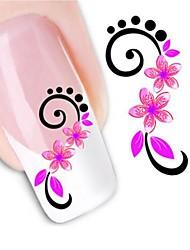cheap -1 pcs 3D Nail Stickers Water Transfer Sticker nail art Manicure Pedicure Flower / Fashion Daily