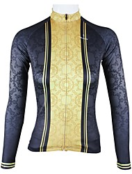 cheap -ILPALADINO Women's Long Sleeve Cycling Jersey Black Patchwork Plus Size Bike Jersey Top Mountain Bike MTB Road Bike Cycling Breathable Quick Dry Sports 100% Polyester Clothing Apparel