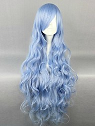 cheap -Cosplay Costume Wig Synthetic Wig Cosplay Wig Wavy Wavy Wig Blue Synthetic Hair 34 inch Women's Blue