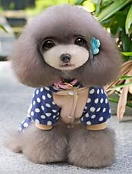cheap -Cat Dog Coat Hoodie Winter Dog Clothes Beige Costume Polar Fleece Cosplay Wedding S M L