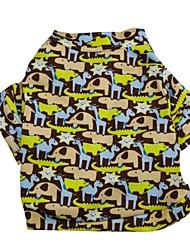 Недорогие -Кошка Собака Футболка Одежда для собак Хаки Костюм Терилен Мультипликация XS S M L